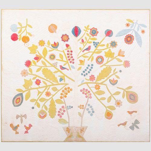 American Floral Patchwork Quilt