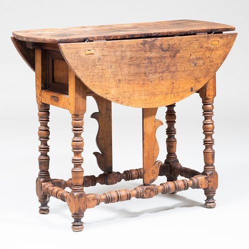 Spanish Baroque Fruitwood Butterfly Table