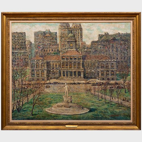 Ernest Lawson (1873-1939): New York City Hall