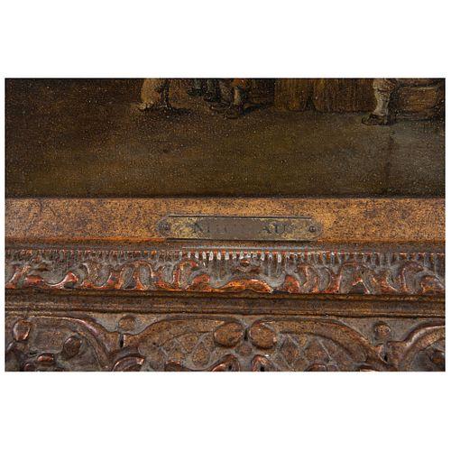 THEOBALD MICHAU HOLANDA 1676 - 1765 INTERIOR DE TABERNA Óleo sobre tela Firmado 18 x 26 cms | THEOBALD MICHAU HOLLAND 1676 - 1765 INTERIOR DE TABERNA
