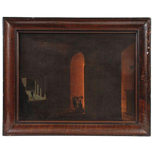 HORACE VERNET (FRANCIA 1789 - 1863) VISTA NOCTURNA DE CALLE Óleo sobre tela 51 x 68 cm Detalles de conservación | HORACE VERNET (FRANCE 1789 - 1863) V
