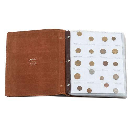 Álbum numismático. Diferentes orígenes y diseños. Monedas en níquel, plata y bronce. Piezas: 280.