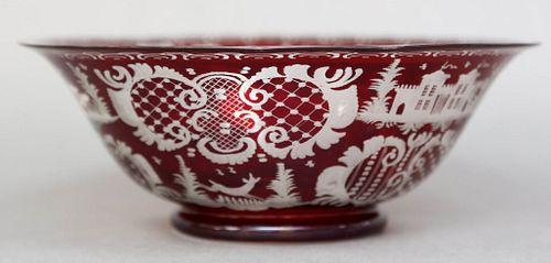 Bohemian Glass Bowl