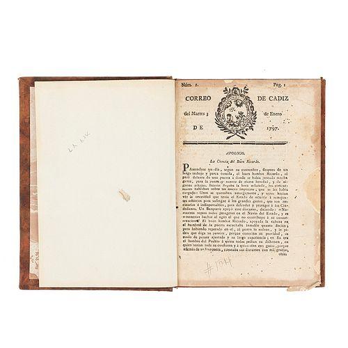Correo de Cádiz / Postillón del Correo de Cádiz. Cádiz: por Don Manuel Ximenez Carreño, 1797.