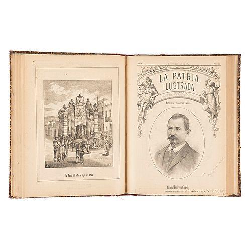 Paz, Ireneo. La Patria Ilustrada. México, 1884. Edición ilustrada de los lunes. Año II. Números 1 - 52 discontinuos.