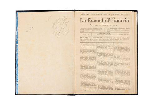 Menéndez, Rodolfo (Director). La Escuela Primaria. Revista Pedagógica Mensual. Mérida de Yucatán, 1900. Año XIV, Núm. 1-12.