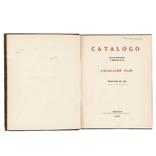 Dr. Atl (Gerardo Murillo). Catálogo de las Pinturas y Dibujos de la Colección Pani. México,1921. Diseño de pasta de Roberto Montenegro.