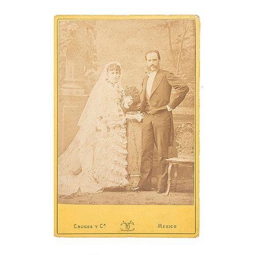Cruces y Campa/ Becerril, Lorenzo/ Winther, N./ Varios. Álbum Fotográfico. México, finales del S. XIX. 14 cabinet, 8 tarjetas de visita