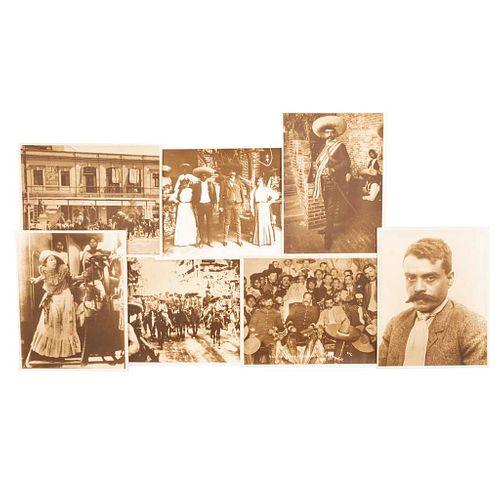Casasola. Imágenes Revolucionarias. México, Siglo XX.  Reprografías con sellos de propiedad de Bazar de Fotografía Casasola. Piezas: 7.