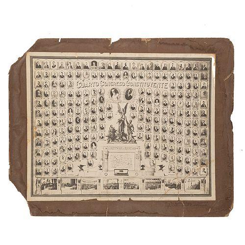 P. Mendoza y Hno. Cuarto Congreso Constituyente, 5 de Febrero de 1917. Fotografía, 45.5 x 58.5 cm., montada sobre cartón.