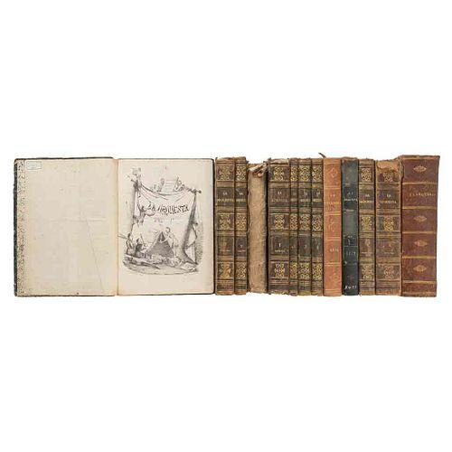 Frías y Soto, Hilarión- Riva Palacio, Vicente- Escalante, Constantino- Iriarte, Hesquicio... La Orquesta. México, 1861-1875. Pzs: 13.