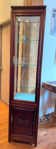 Lighted Chinese Display Cabinet 2 Piece