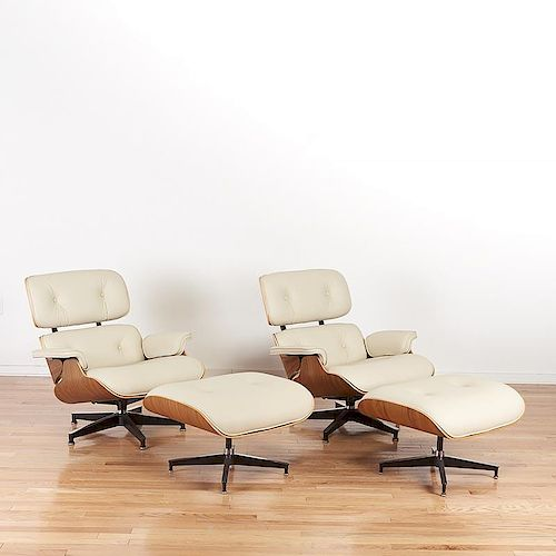 Remarkable Pr Eames For Herman Miller Lounge Chairs Ottomans By Millea Caraccident5 Cool Chair Designs And Ideas Caraccident5Info