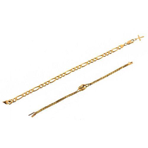 Two 14K Bracelets