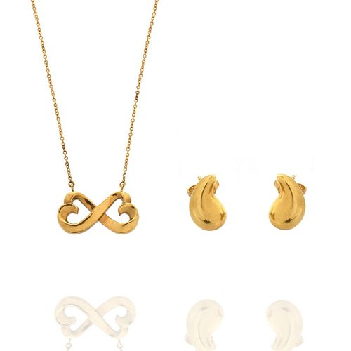 Tiffany & Co 18K Necklace and Earrings