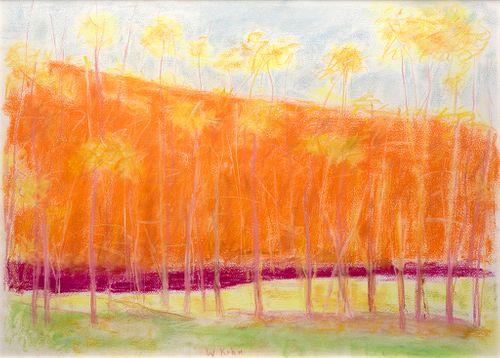 Wolf Kahn - Pastel Landscape