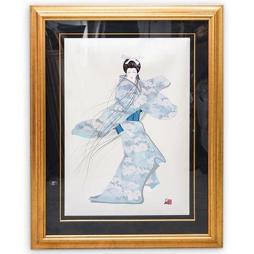 Hisashi Otsuka (Japanese, b.1947) Geisha Lithograph