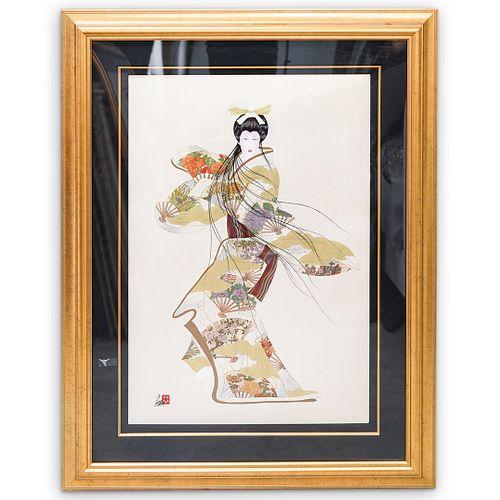 "Hisashi Otsuka (Japanese, b.1947) ""Lady Meiko"" Lithograph"