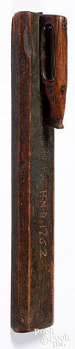 Scandinavian painted mangle board, dated 1762