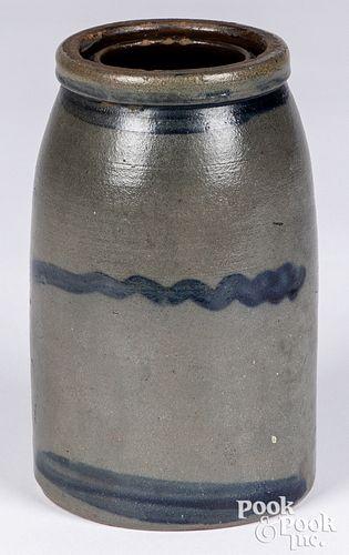 Western Pennsylvania stoneware wax sealer jar