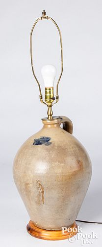 Ohio three-gallon stoneware jug table lamp