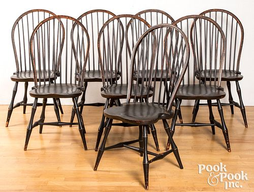 Eight bowback Windsor chairs by David Smith