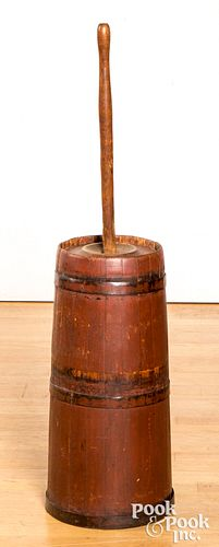 Painted butter churn, 19th c.
