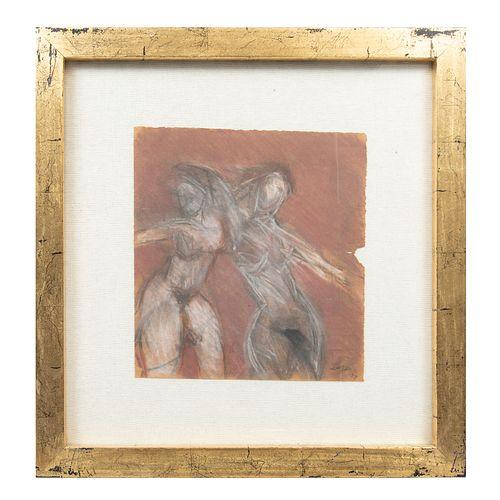 JEFREY LERER. Sin título. Firmado. Técnica mixta. Enmarcado. 33 x 30 cm