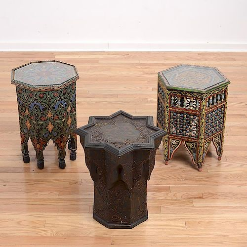3 Moroccan Style Decorator Side Tables By Millea Bros Ltd