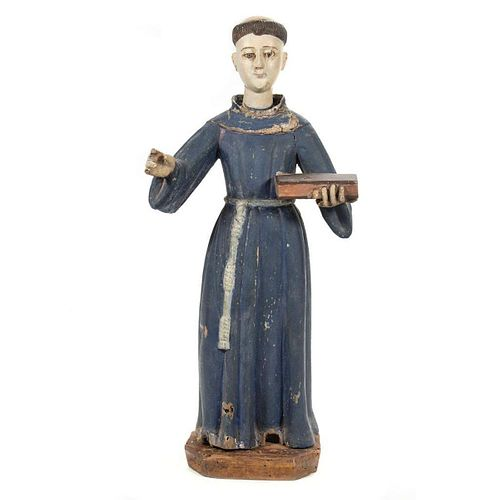 Spanish Colonial Figure of a Saint