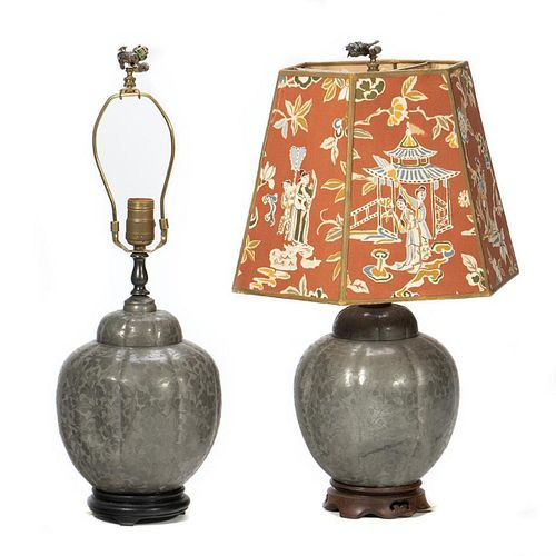 Pair Asian Style Table Lamps