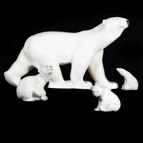 Russian Lomonosov and lladro Porcelain Group
