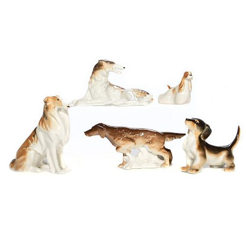 Russian Lomonosov Procelain Dogs