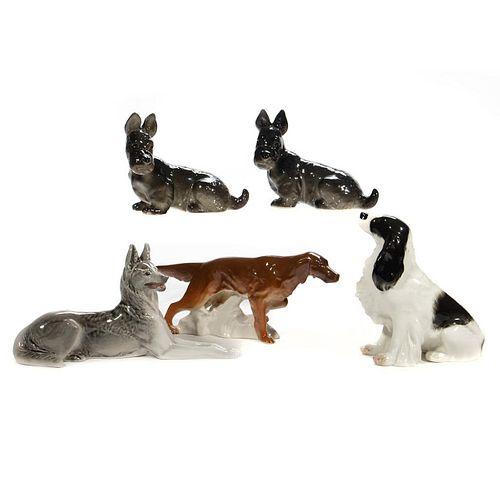 Russian Lomonosov Porcelain Dogs