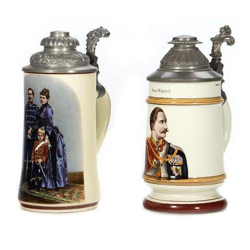 German Ceramic Steins