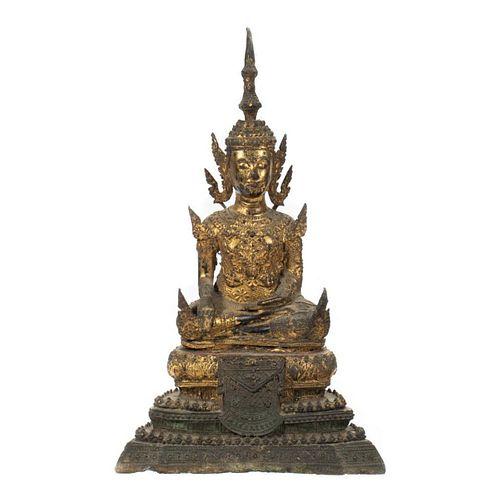 Gilt Metal Figure of a Buddha.