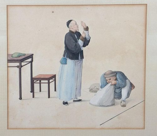 Two 19th Century Chinese Watercolors