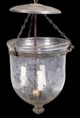 FEDERAL GLASS HANGING HALL LANTERN