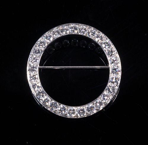 VINTAGE ROUND DIAMOND BROOCH