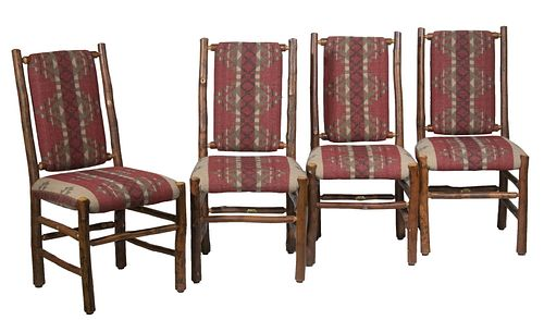 """(SET OF 4) """"OLD HICKORY"""" ADIRONDACK CHAIRS"""