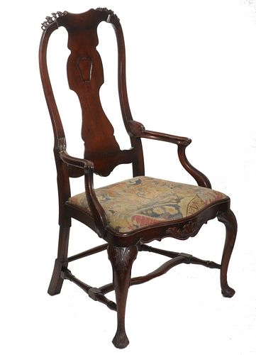 BENCH-MADE IRISH CHIPPENDALE ARMCHAIR