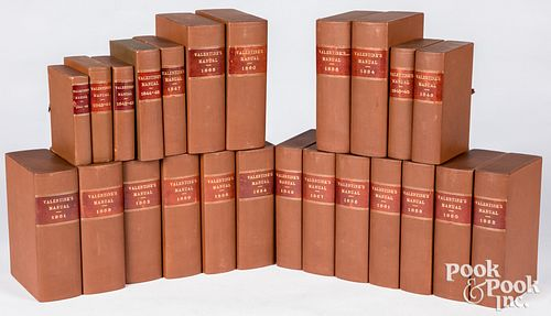 D. T. Valentine's Manual of NY, 24 volumes