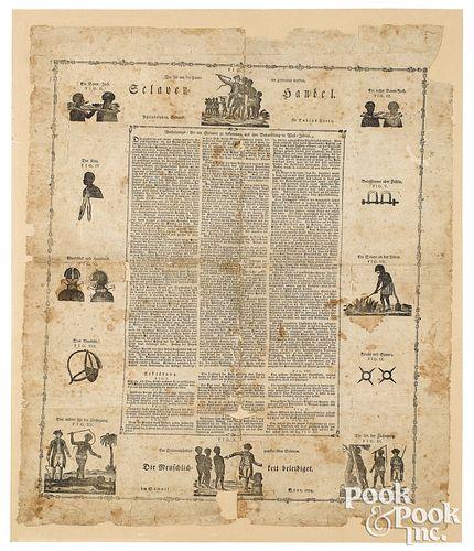 Rare early anti-slavery broadside
