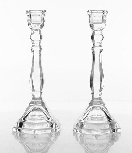 Tiffany & Co. Hampton Crystal Candlesticks, Pair