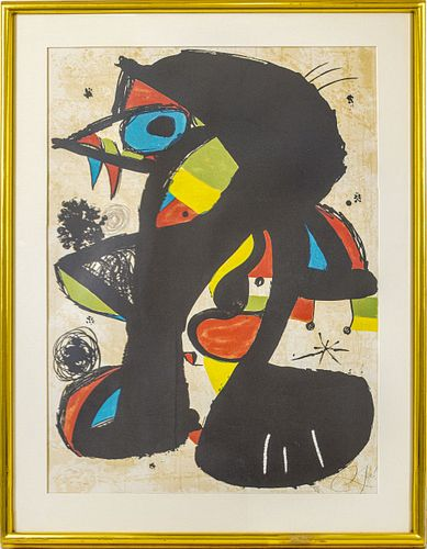 "Joan Miro ""Incivisa"" Lithograph on Paper, 1980"