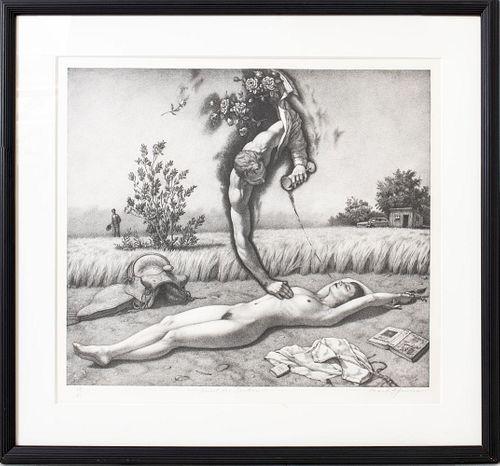 "Mark Spencer ""Thirst for Tender"" Lithograph, 1983"
