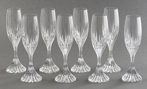 Baccarat Crystal Massena Champagne Flutes, 8