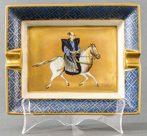Hermes Large Porcelain Samurai Ashtray