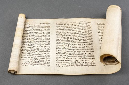 Judaica Ester Scroll Megillah On Parchment