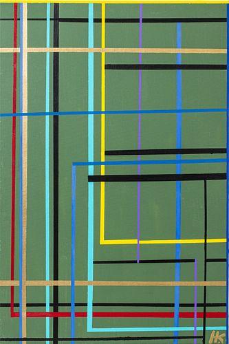 Herman Hershel Kahan Abstract Acrylic on Canvas